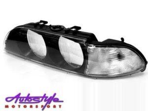 Suitable to fit E39 Headlight Lens Left 96 - 00-0