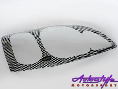 Opel Astra 95up Carbon Headlight Shields