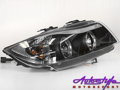 Non-Original S90 Smoke Angeleye Headlights