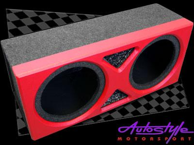 12' Double Sub Enclosure with Triangle Insert