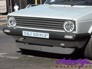 "VW Golf MK1 Narrow Bumpers ""old school"" 2piece Front Spoiler-0"