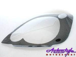 Ford Fiesta '05up Carbon Headlight Shields-0