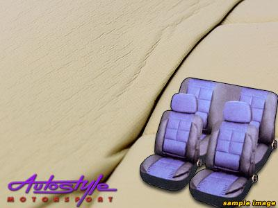 Leather Touch Padded Seat Cover Set (beige)-0