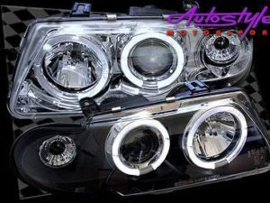 Astra Angel Eye Chrome Headlights 92-95-0
