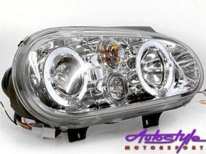 VW Golf M4 Chrome Angel Eye H/L with Spotlight-0