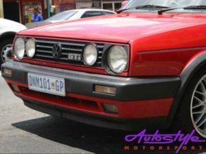 VW Golf/Jetta Mk2 Jumbo Front Bumper Kit (plastic)