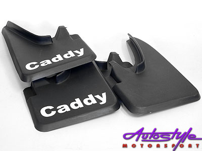 VW Caddy Bakkie Black Rubber Mudflaps-0