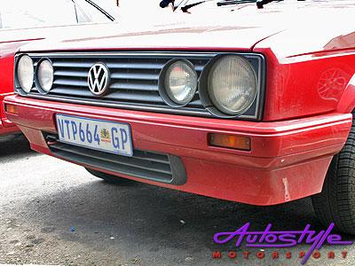 VW Golf 1 New Velociti Plastic Front Bumper with G