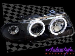 Astra Angel Eye Smoke Headlights 92-95-0