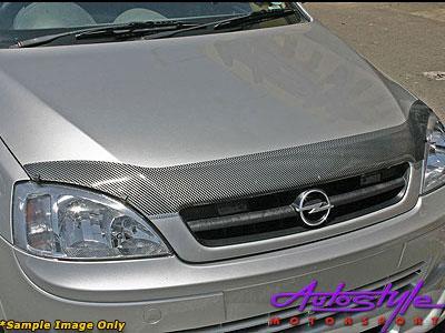Opel Corsa '08up Carbon Look Bonnet shield-0