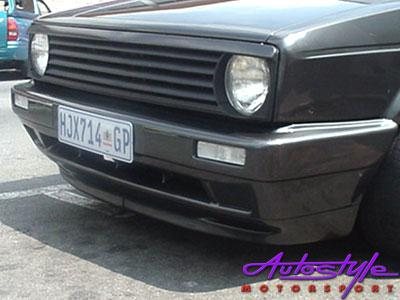 MK2 Jumbo Front Bumper made to fit Golf MK1 (fibreglass)