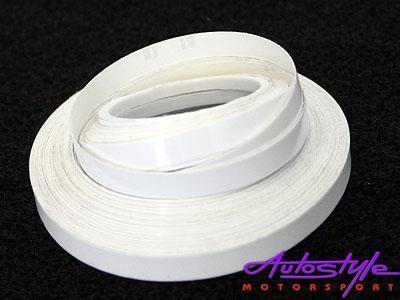 White Pin Striping 6mm x 10m