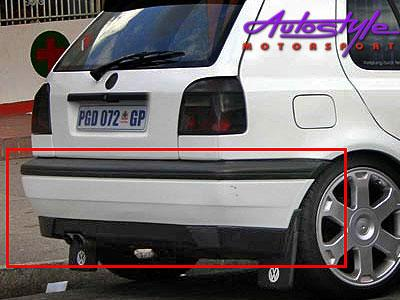 Vw Golf 3 Plastic Replacement Rear Bumper