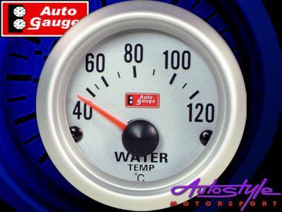 Autogauge Silver Trim 2″ Water Temperature Gauge