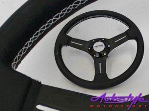 Twin spoke Black Steering Wheel 330mm-0