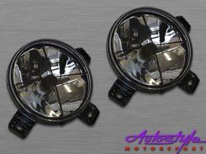 VW Golf 2 Smoked Crosshair Spotlights-0