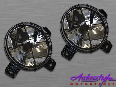 VW Golf 2 Smoked Crosshair Spotlights