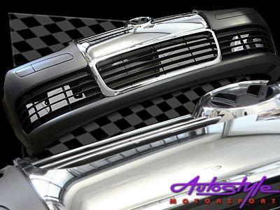 Golf 4 Front Bumper MK5 R32 Style Chrome No Fogs