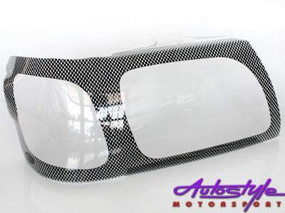 Toyota Hilux 2005 to 2009 Carbon Headlight Shields-0