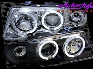 Astra Angel Eye Chrome Headlight 96-98 -0