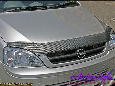 Nissan Tida Carbon look Bonnet Guard