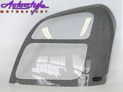 Isuzu '04-07 Carbon headlight Shields