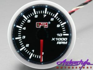 Autogauge 52mm Smoked Tachometre-0