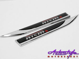 NISMO Nissan Chrome Fender Badges-0