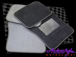 Universal Black Car Mats with Rubber Center-0