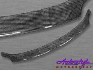 Toyota Auris 07+ Carbon Look Bonnet Shield-0