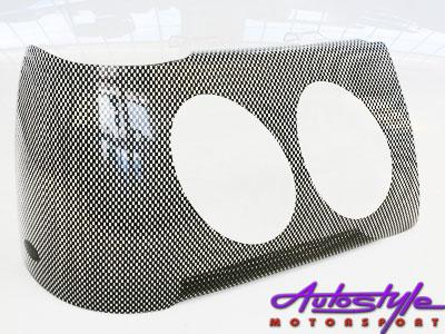 Ford Courier '98+ Carbon Headlight Shields