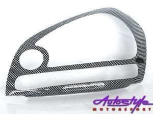 Hyundai Tucson 05+ Carbon Look Headlight Shields-0
