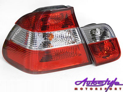 Suitable to fit E46 - semi clear crystal tailights