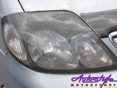 Toyota Corrolla 02-06 Carbon Headlight Shields-0