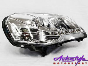 VW Polo 9N3 2005+ Chrome DRL Headlights-0