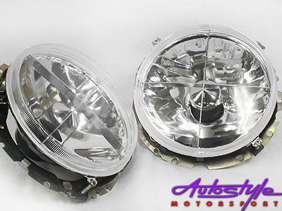 Golf 1 Crystal Headlights with Crosshair