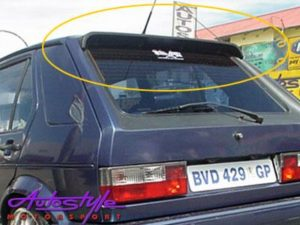 Vw Golf 1 Kamei Plastic Rubber Roofspoiler without-0
