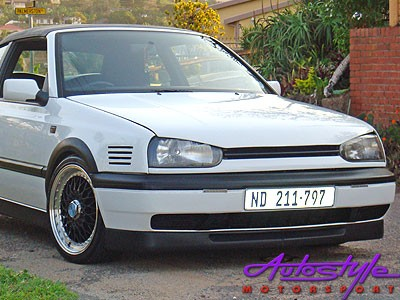 Vw Golf Mk3 Bonrath 2pc Plastic Front Spoiler Autostyle Motorsport
