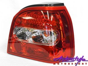 Golf 3 Red LED Tail Lamps