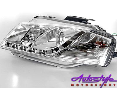 Audio A3 Chrome DRL Style Headlights