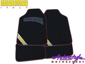 Momo Black & Red Car Mat-0