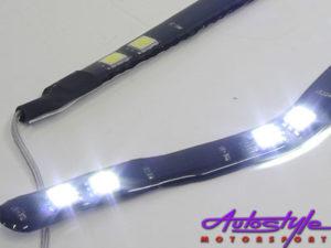 Ice White LED Stripe Polo 04 Upwards Shape-9571