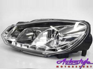 VW Mk6 Chrome DRL Headlights-0