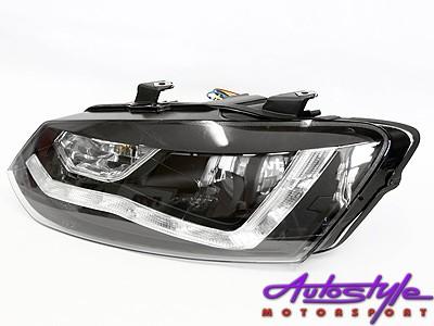 VW Polo 2010 Smoke DRL Headlight
