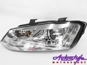 VW Polo 2010 Chrome DRL Headlight-0