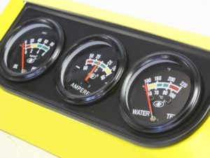 Autogauge Triple Gauge Kit (black frame)-0