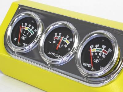 Pro Gauge Series Triple Gauge Kit (chrome frame)