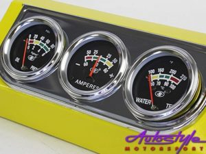 Pro Gauge Series Triple Gauge Kit (chrome frame)-0
