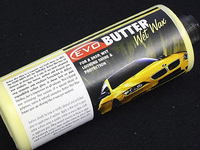Evo Butter Wet Wax For a deep, wet looking shine and protection