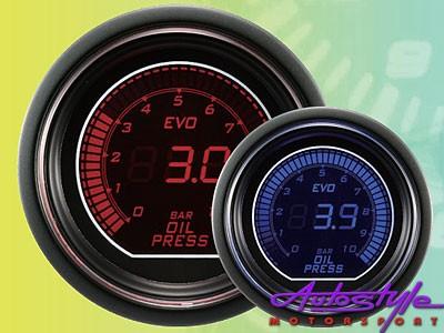 Autogauge EVO Oil Pressure Gauge 52mm